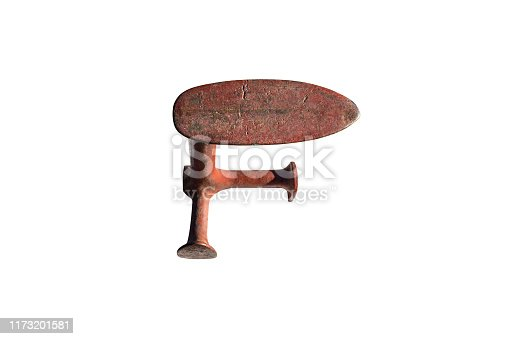 istock Metal anvil of cobbler, isolated on a white background with a clipping path. 1173201581