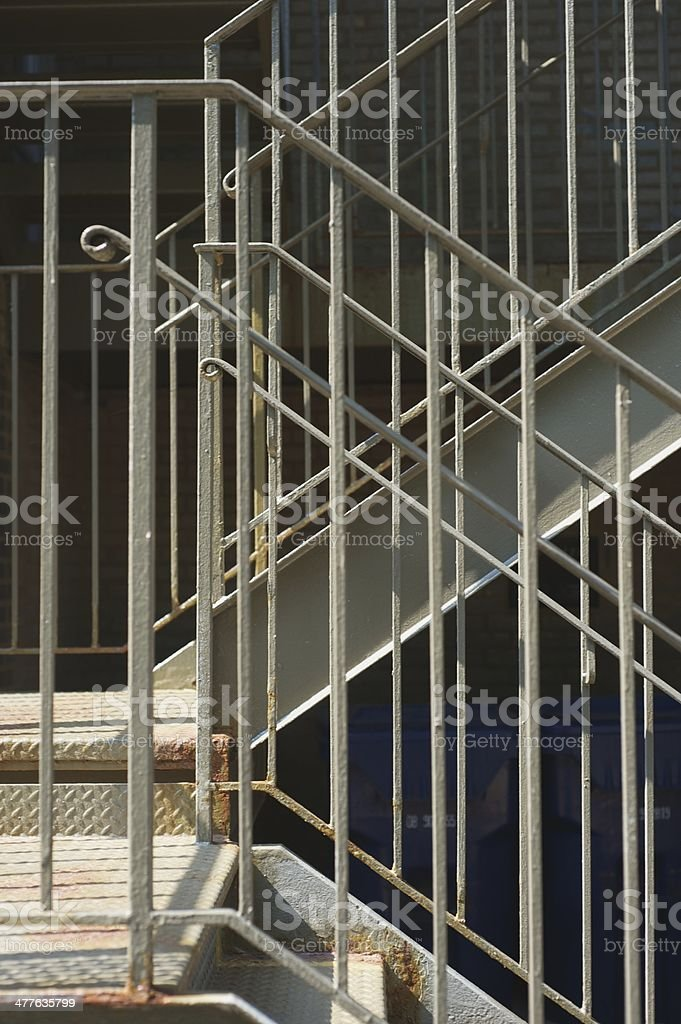 Metal Apartment Building Stairs royalty-free stock photo