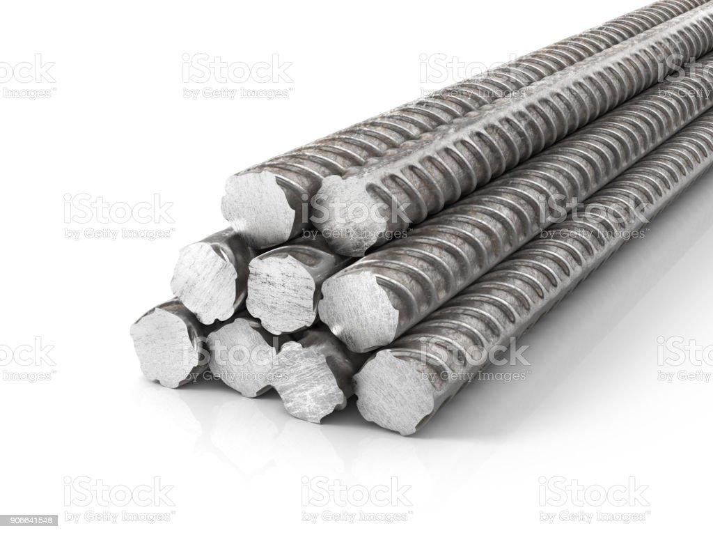 Armadura de metal. Hastes de metal. ilustração 3D - foto de acervo