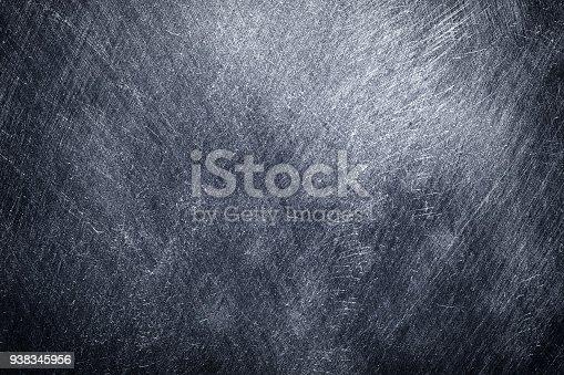 istock Metal background black, worn texture steel or lead 938345956