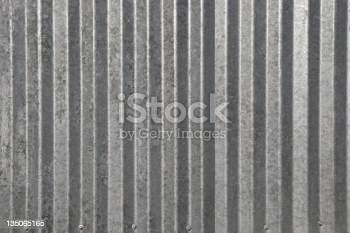 close up abstract of a metal wall