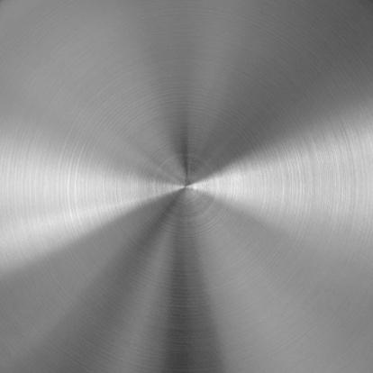 Circular textured silver metal background