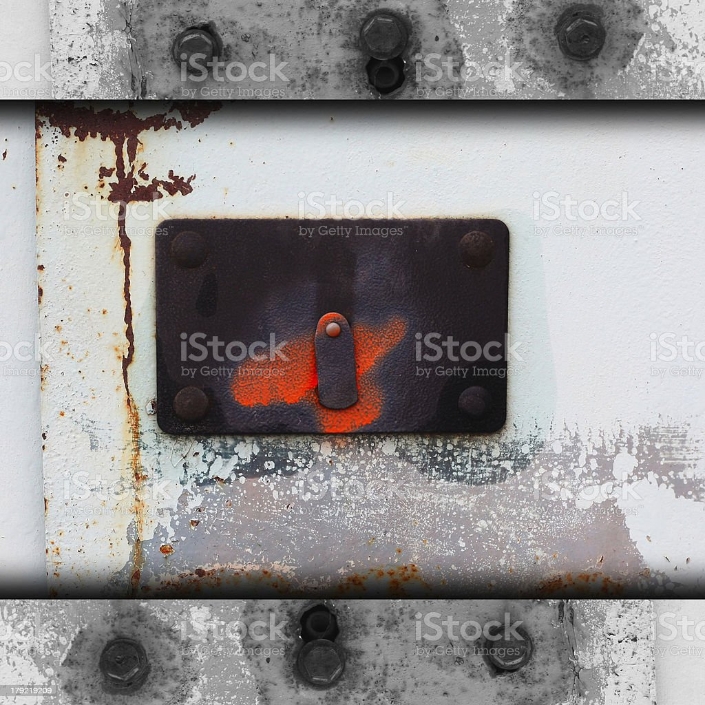 metal background plate steel template frame signboard texture ir royalty-free stock photo