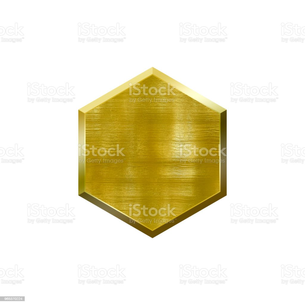 Metal badge with metallic border in form of circle. royalty-free stock photo