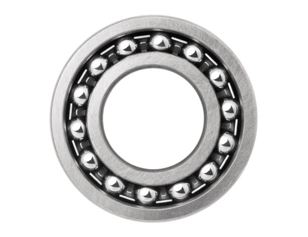 Metal ball bearing Metal ball bearing isolated on white background ball bearing stock pictures, royalty-free photos & images