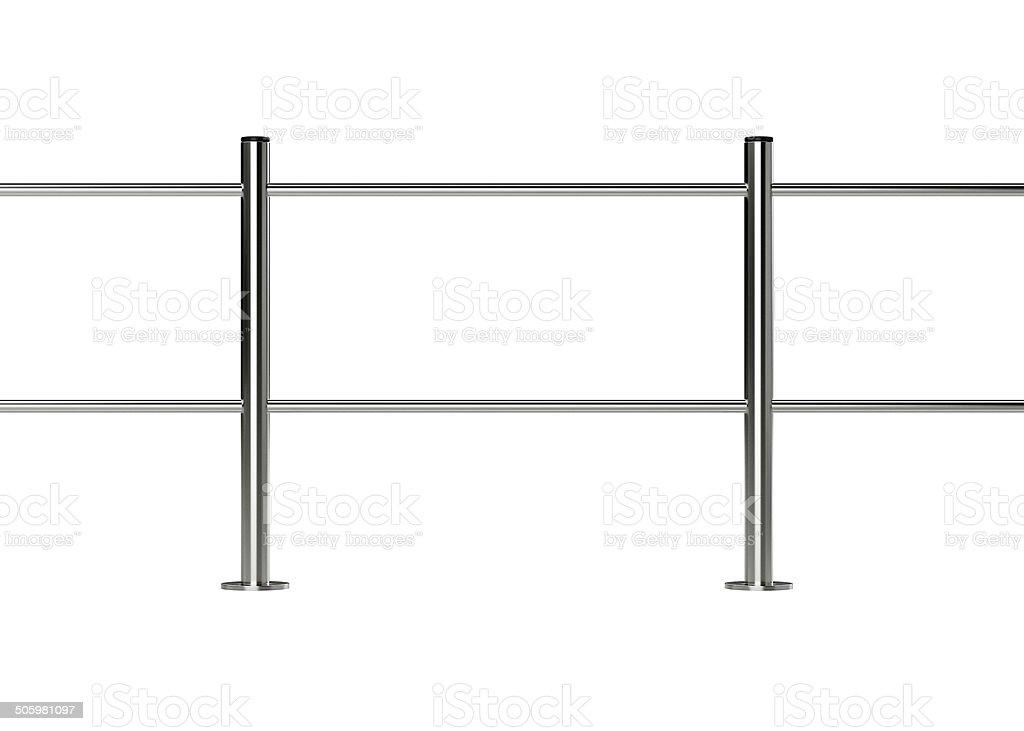 metal barrier stock photo