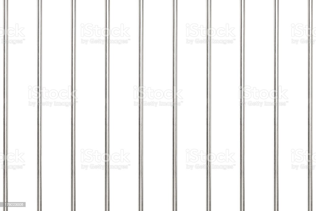 Metal bars in prison stock photo