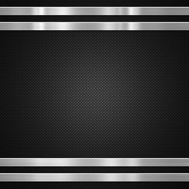 Metal bars on carbon background stock photo