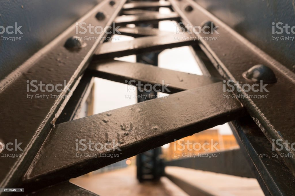 Metal Beam Industrial Structure stock photo
