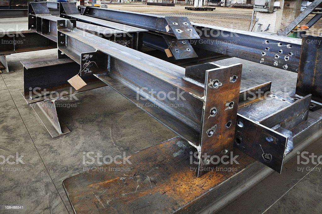 metal beams stock photo