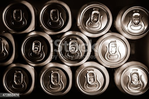 istock metal  beer cans background 472853474