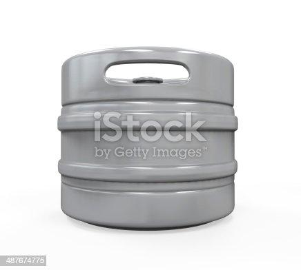 istock Metal Beer Keg 487674775