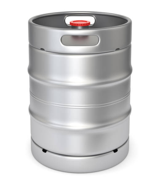 metall bier keg - bierfass stock-fotos und bilder
