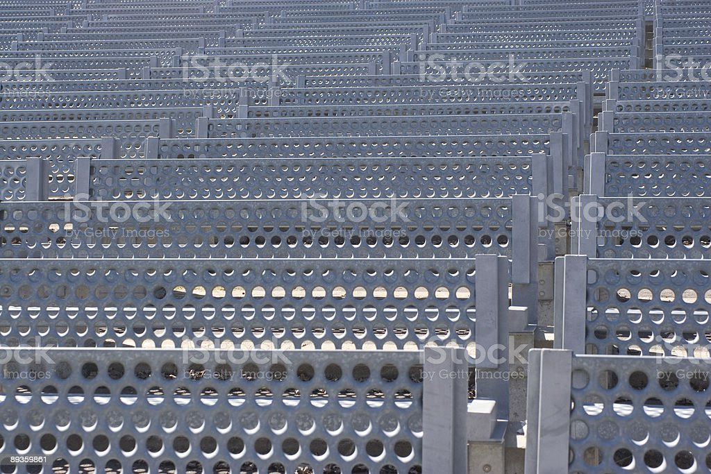 Metal bench texture royalty-free stock photo