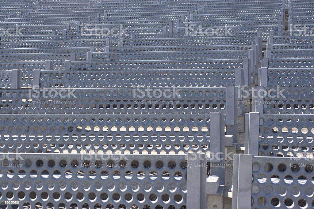 Metal bench texture royalty free stockfoto