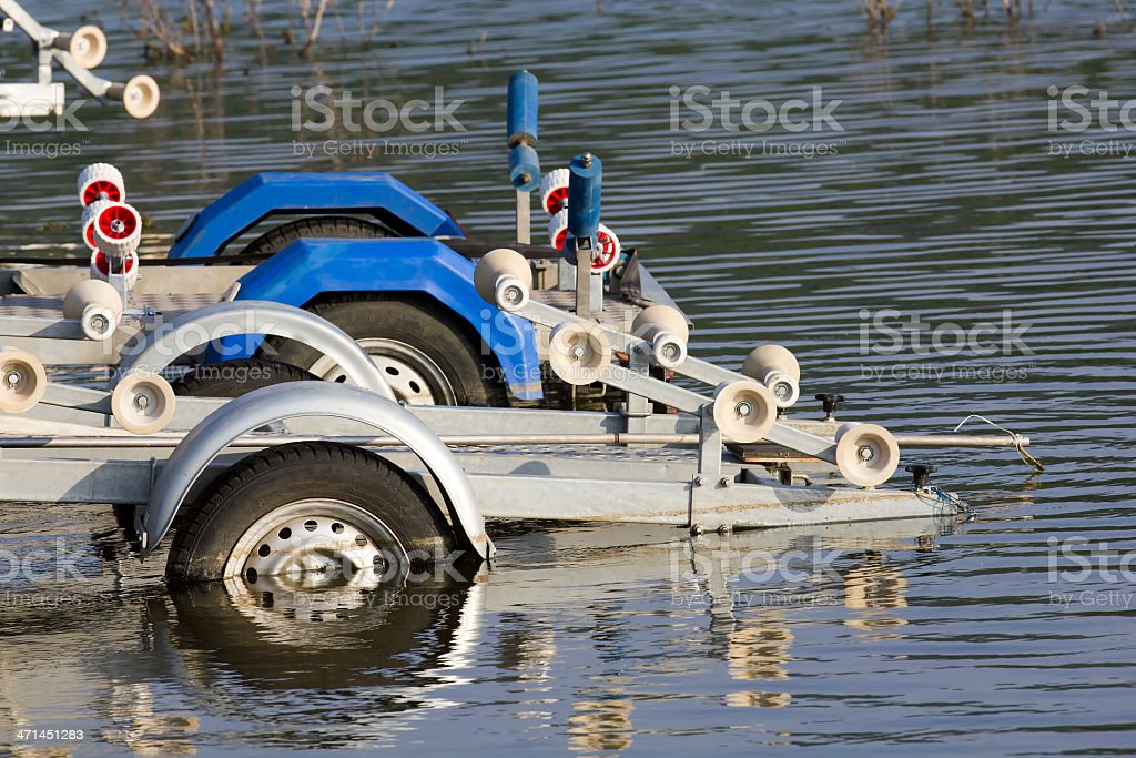 metal boat trailer royalty-free stock photo