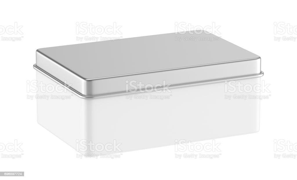 Metal box stock photo