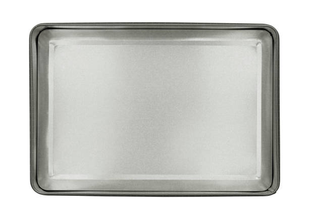 Metal box top view stock photo