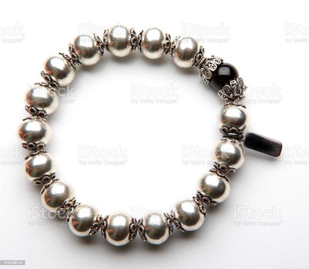 Metal Bracelet Studio Quality white Background stock photo
