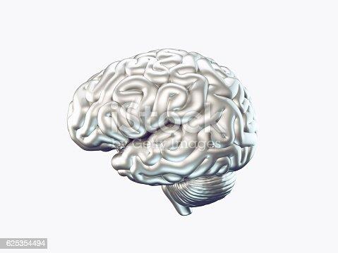istock Metal brain 625354494