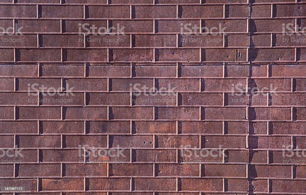 Metal Brick Wall Close-up royalty-free stock photo