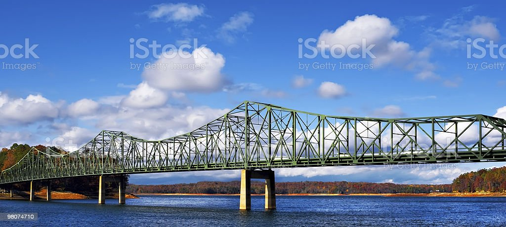 Metal bridge in the Fall royalty-free stock photo