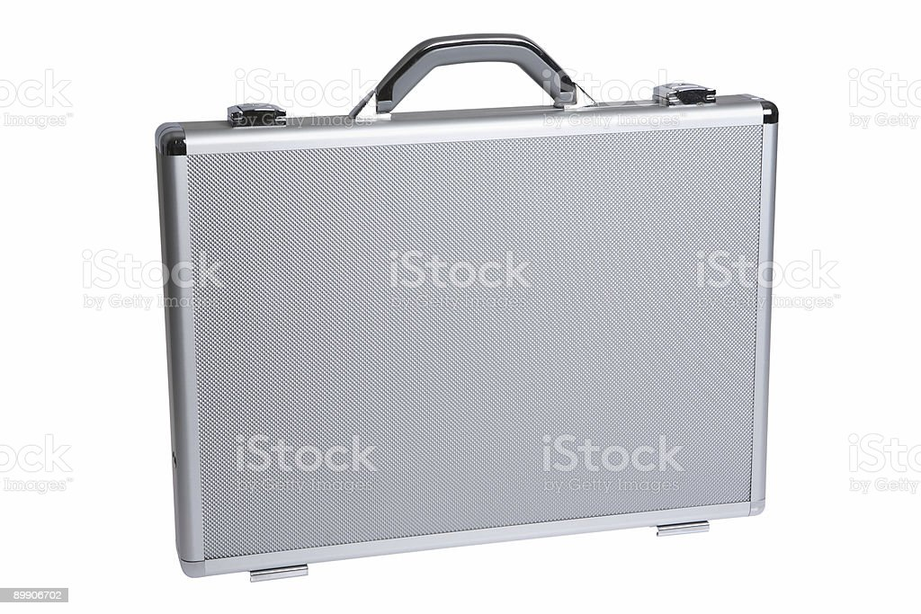 Metal Briefcase (Isolated) royalty-free stock photo