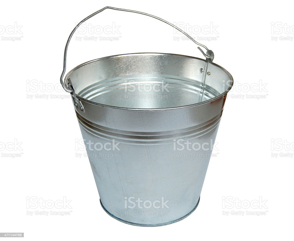 Metal bucket. stock photo