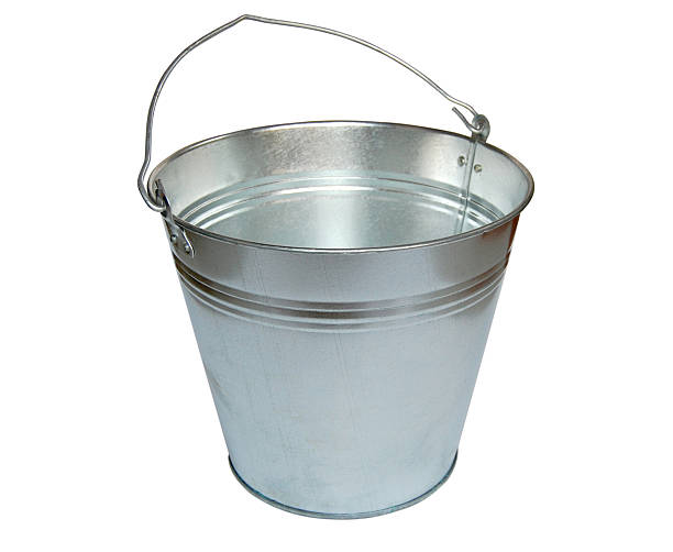 Metal bucket. stock photo
