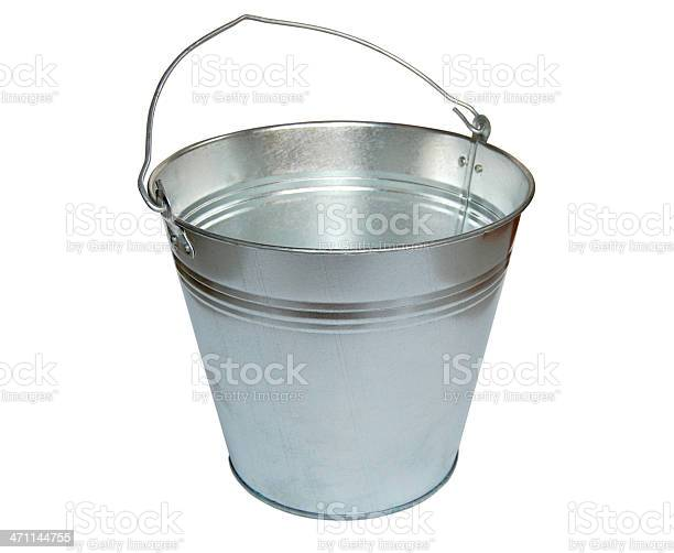 Metal Bucket Stock Photo - Download Image Now