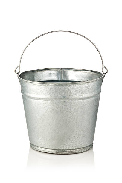 Metal Bucket stock photo