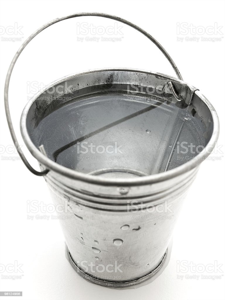 metal bucket royalty-free stock photo