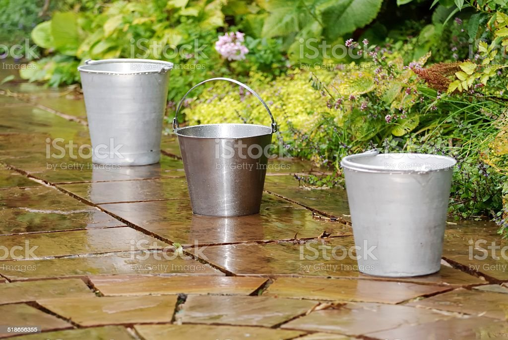 Metal Buckets stock photo