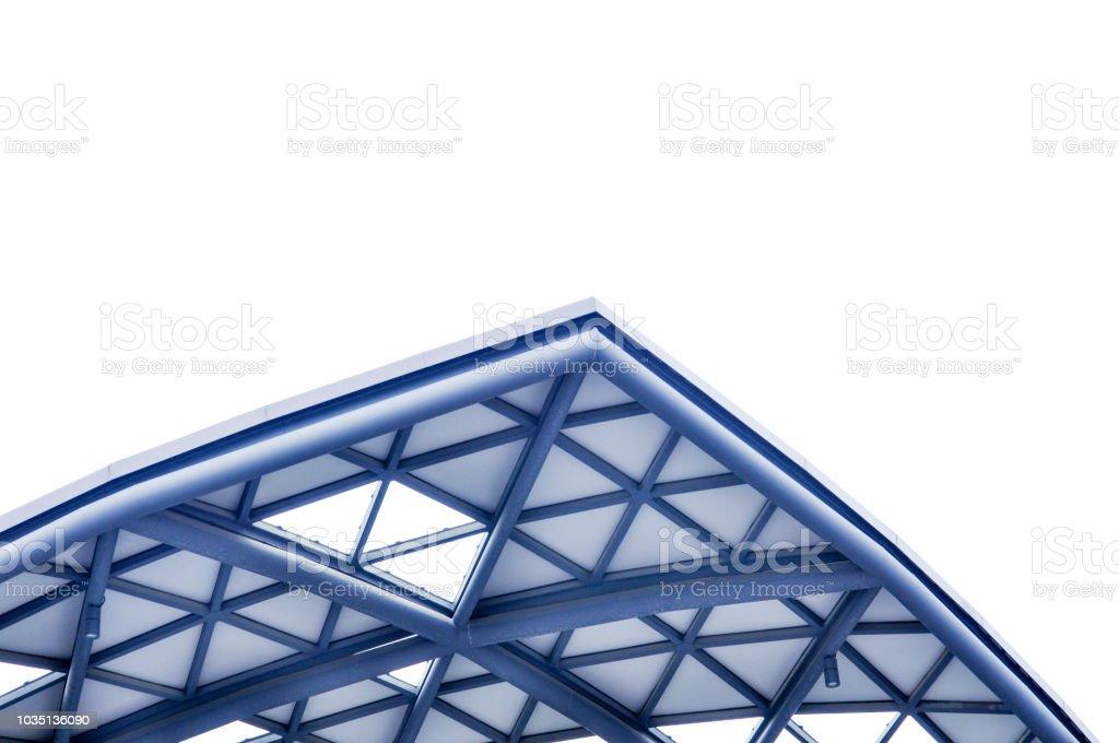 Metal building construction of railway station in Łódź Fabryczna