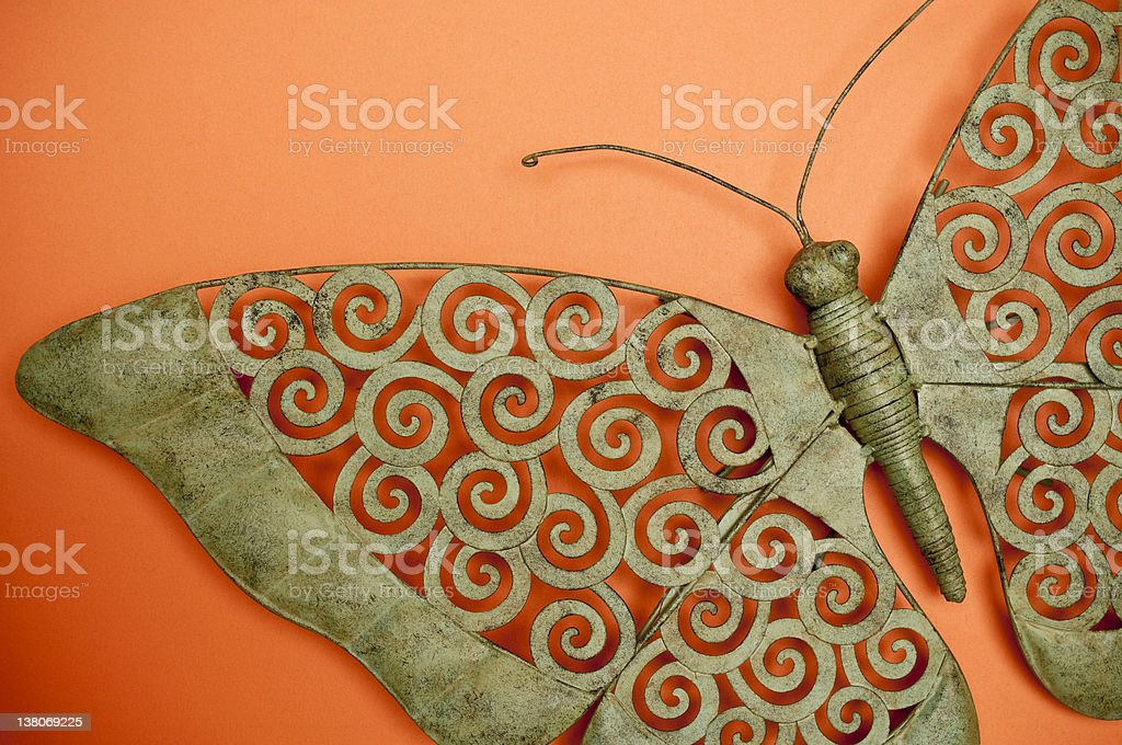Metal Butterfly royalty-free stock photo