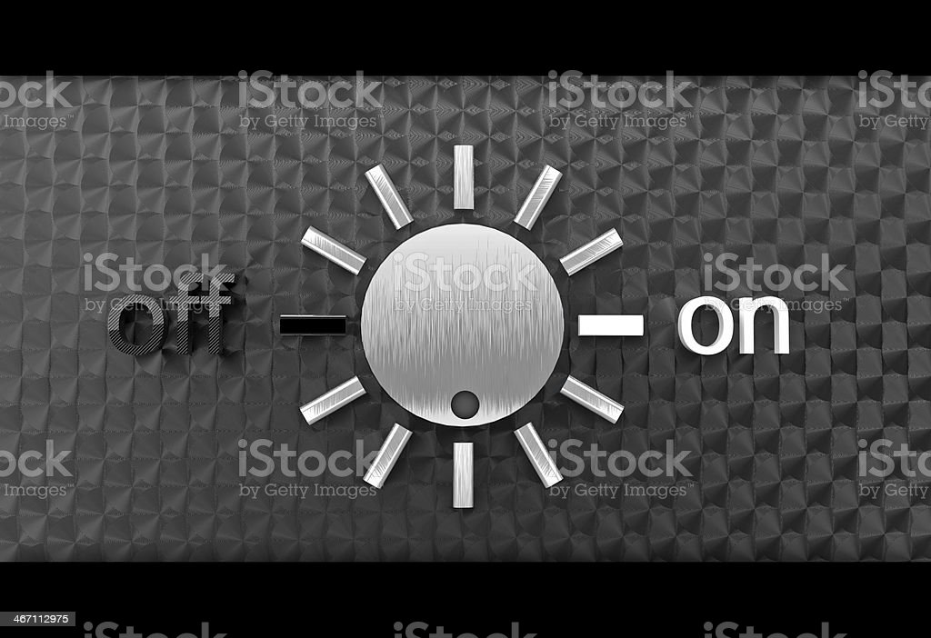 Metal buttons on and off royalty-free stock photo