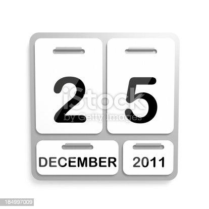 istock Metal Calendar - 25 December 2011 184997009