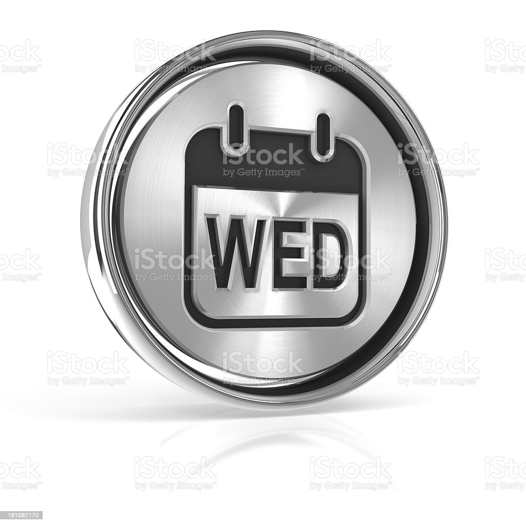 Metal calendar day of the week icon stock photo