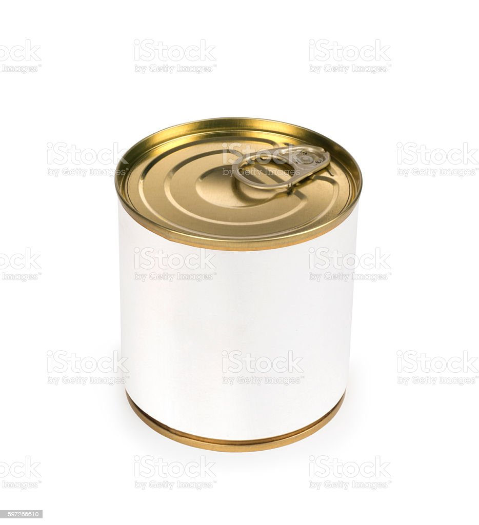 Metal can for preserved food royalty-free stock photo