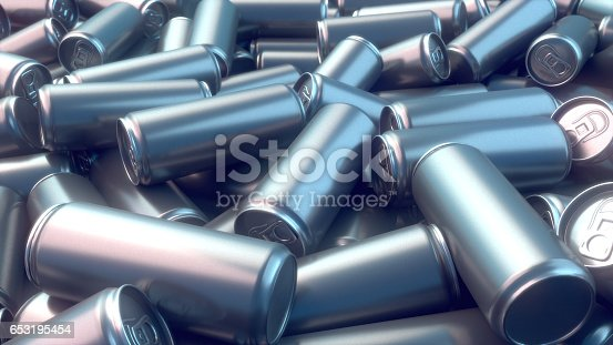 istock Metal can pattern 3d rendering 653195454