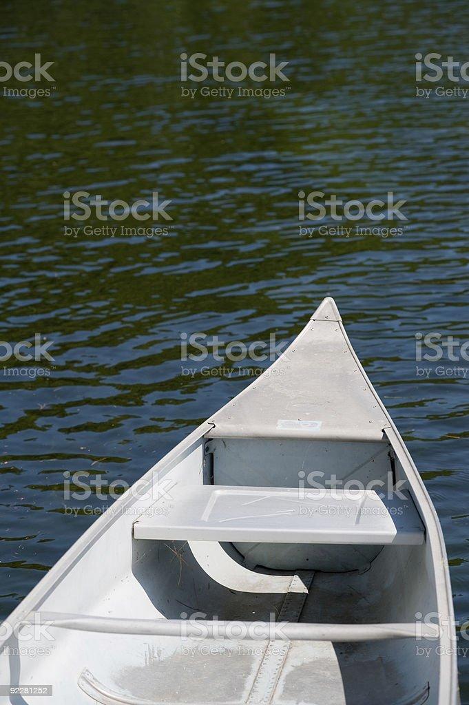 Metal Canoe royalty-free stock photo