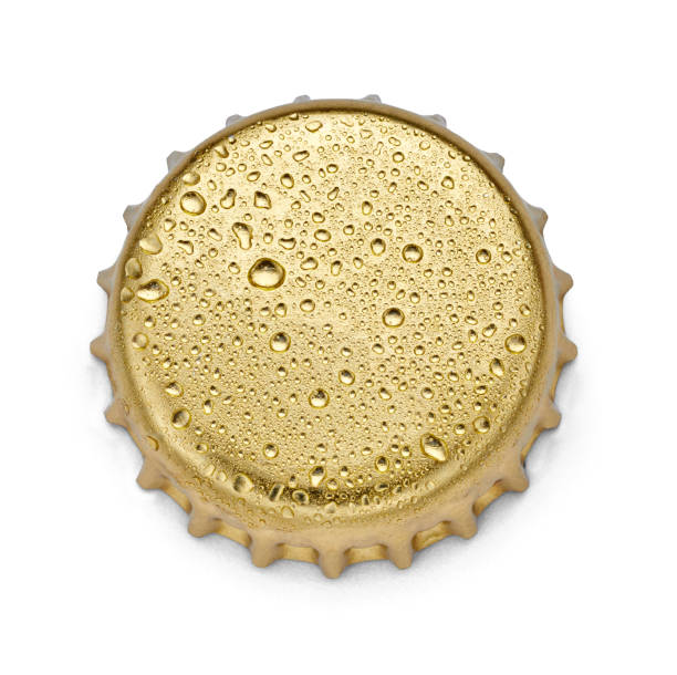 metal cap bottle drink collection of  various bottle caps on white background. each one is shot separately bottle cap stock pictures, royalty-free photos & images