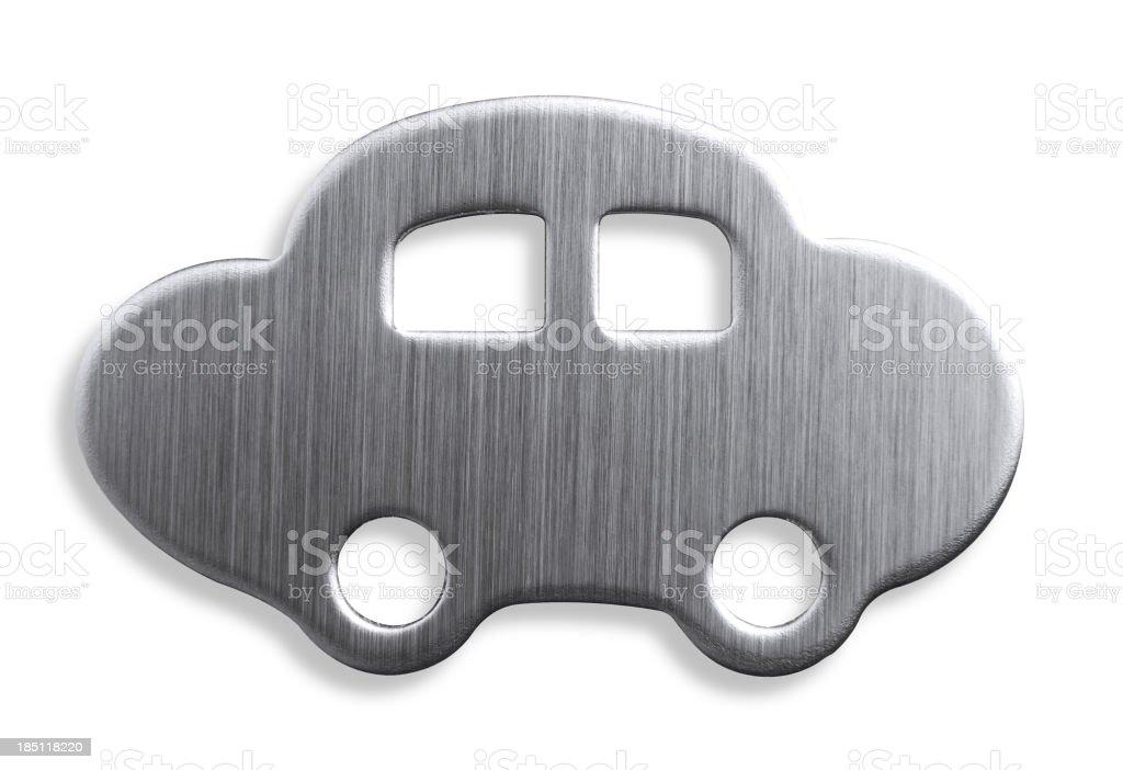 Metal Car Shape royalty-free stock photo