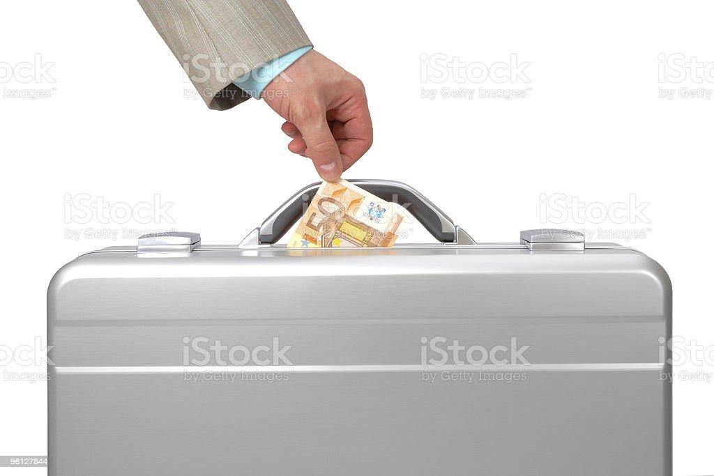 Metal case & Euro royalty-free stock photo
