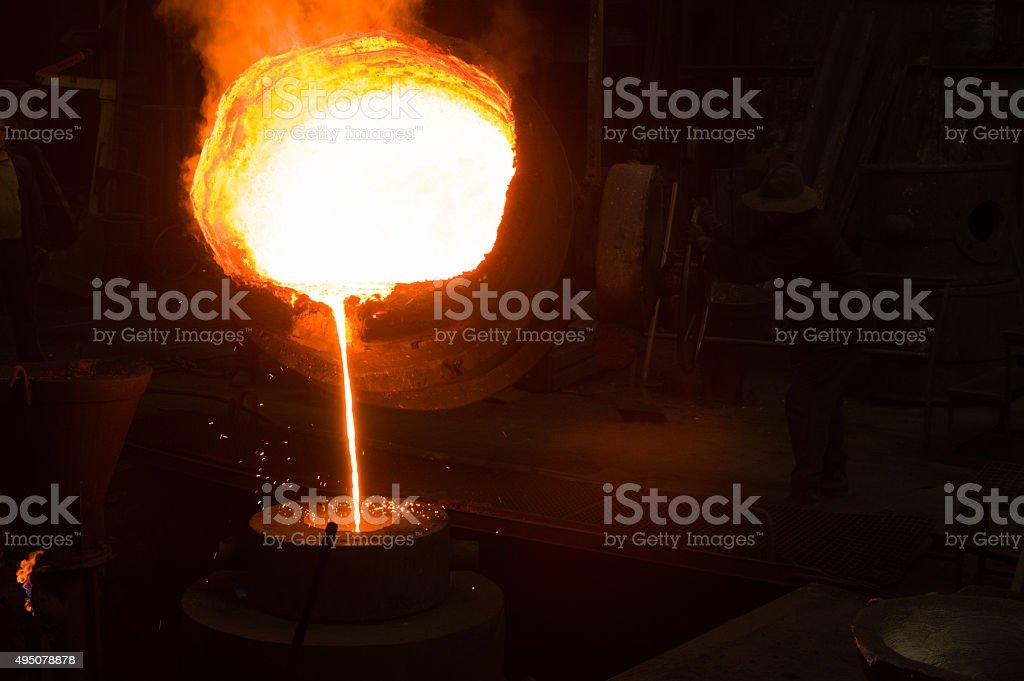 Metal Casting stock photo