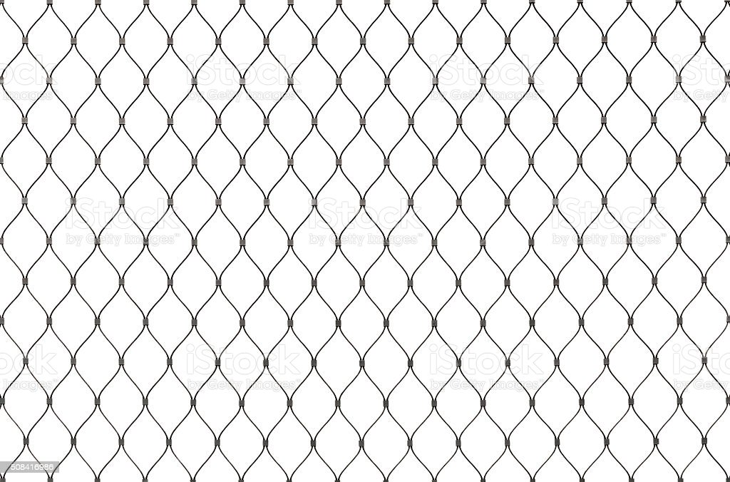 Metal Chain Link Fence Background Texture Isolated Stock Photo ...