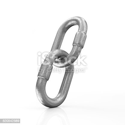 istock Metal Chain Links Icon isolated on white background 520542589