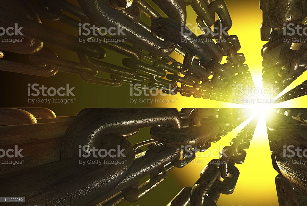 metal chain royalty-free stock photo