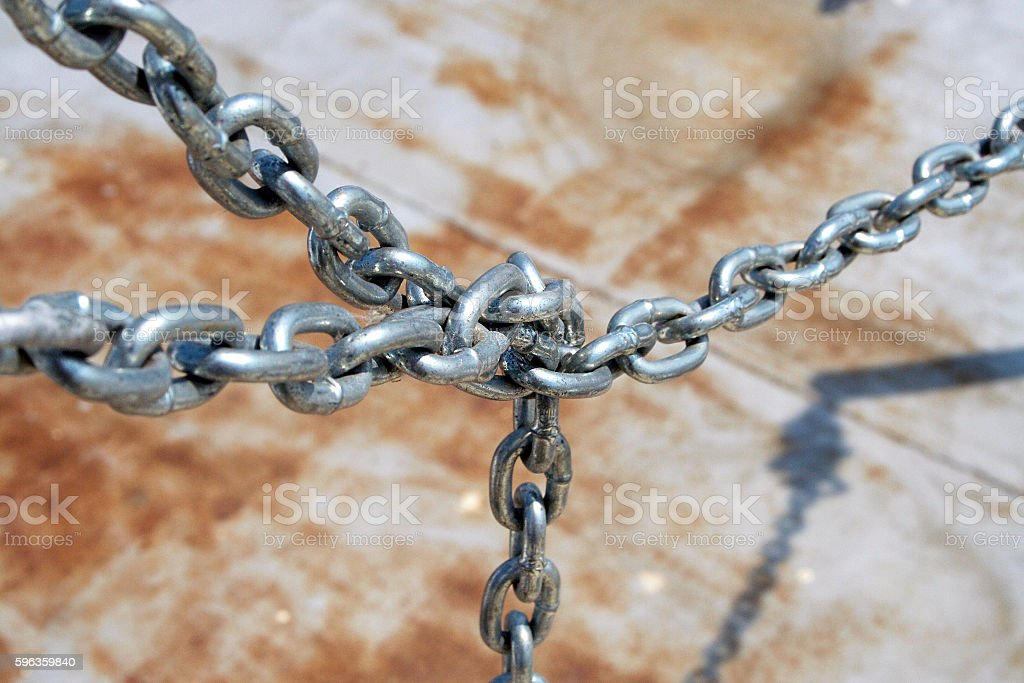 Metal chain. royalty-free stock photo