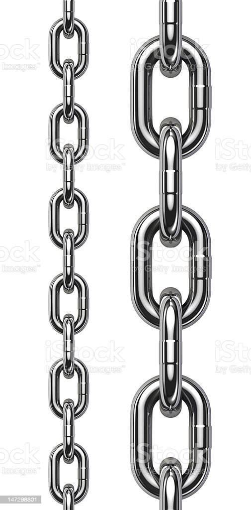 Metal chain tiled stock photo